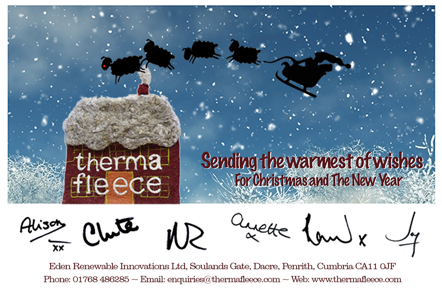 Merry Christmas<br>From all <br>at Thermafleece